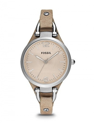 montre fossil gerogia cuir sable es2830