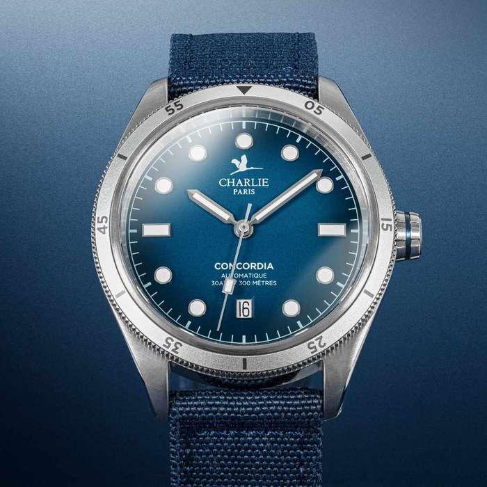 montre concordia nazare 40mm bleu